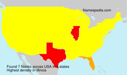 Surname Ndoko in USA