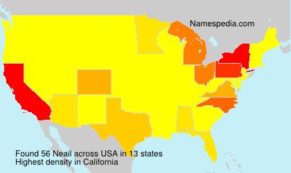 Familiennamen Neail - USA