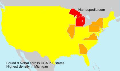 Surname Nebal in USA