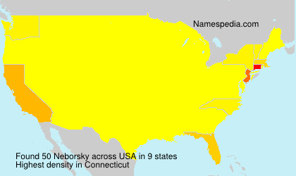 Surname Neborsky in USA