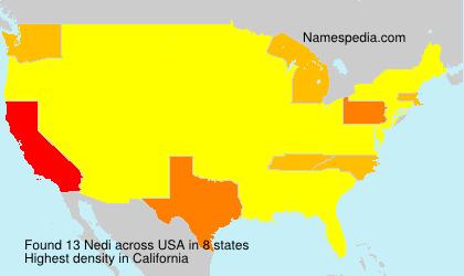 Familiennamen Nedi - USA