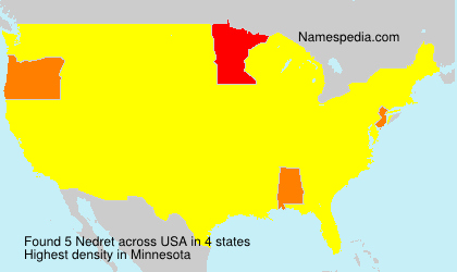 Surname Nedret in USA