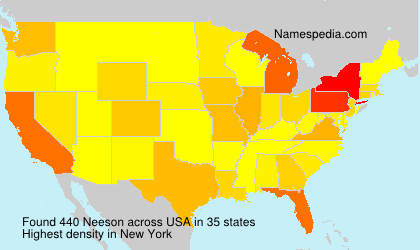 Surname Neeson in USA