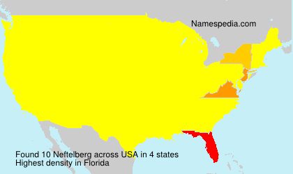 Surname Neftelberg in USA