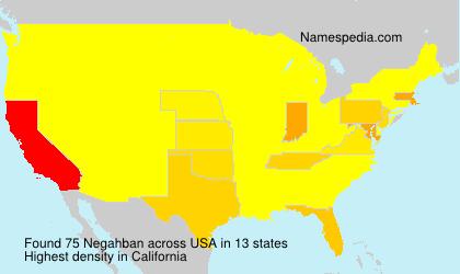 Surname Negahban in USA