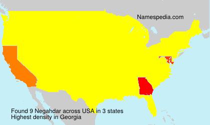 Surname Negahdar in USA