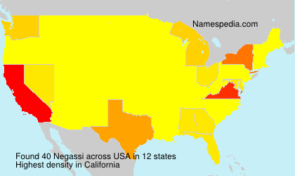 Surname Negassi in USA