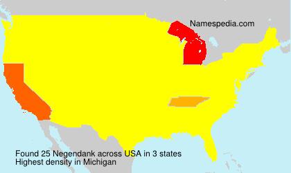 Familiennamen Negendank - USA