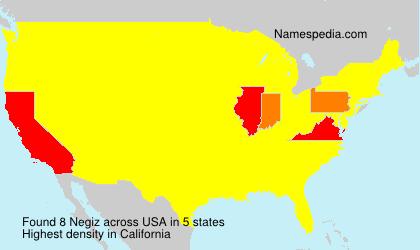 Surname Negiz in USA