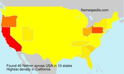 Surname Nehrer in USA