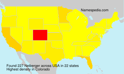 Surname Neiberger in USA