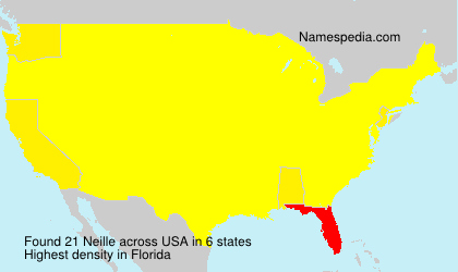 Surname Neille in USA