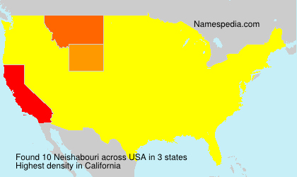 Surname Neishabouri in USA