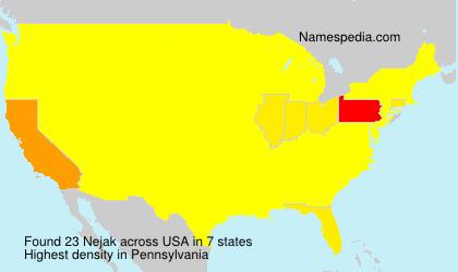 Surname Nejak in USA