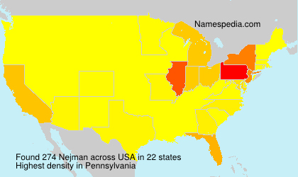 Surname Nejman in USA