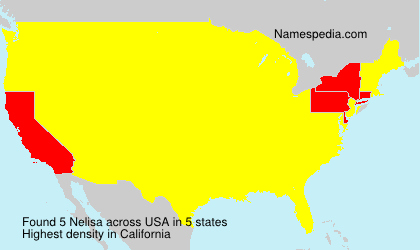 Surname Nelisa in USA