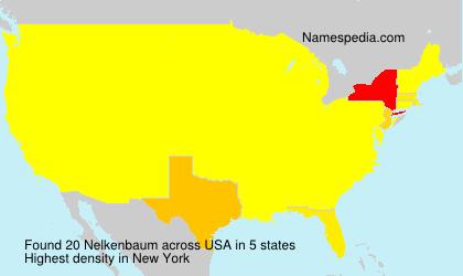 Surname Nelkenbaum in USA