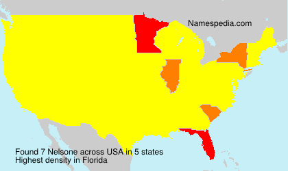 Surname Nelsone in USA