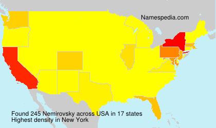 Familiennamen Nemirovsky - USA