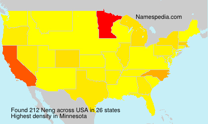 Surname Neng in USA