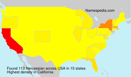Surname Nercessian in USA