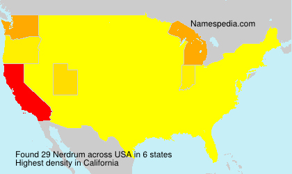 Surname Nerdrum in USA