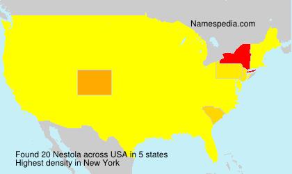 Surname Nestola in USA
