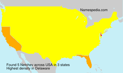 Surname Netchev in USA