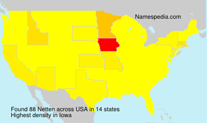 Surname Netten in USA