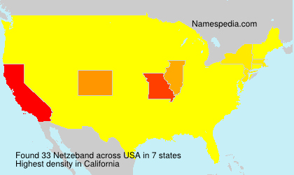 Surname Netzeband in USA