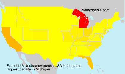 Surname Neubacher in USA