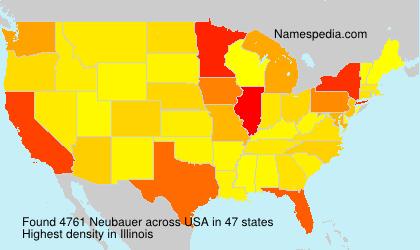 Surname Neubauer in USA