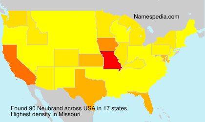 Surname Neubrand in USA