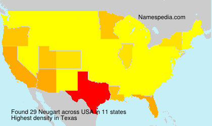 Surname Neugart in USA
