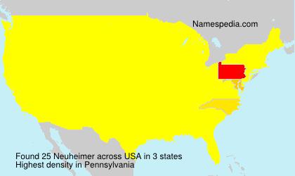 Familiennamen Neuheimer - USA