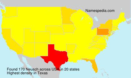 Surname Neusch in USA