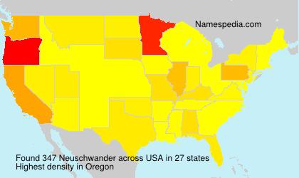 Familiennamen Neuschwander - USA