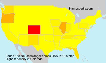 Surname Neuschwanger in USA