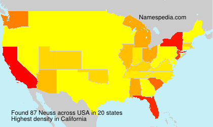 Surname Neuss in USA