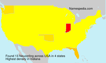 Surname Neuzerling in USA
