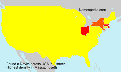 Surname Nevits in USA