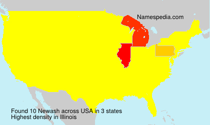 Surname Newash in USA