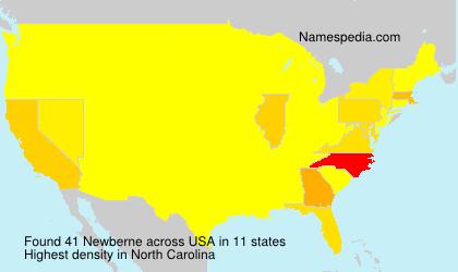 Surname Newberne in USA