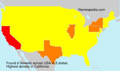 Familiennamen Newells - USA