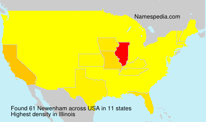 Surname Newenham in USA