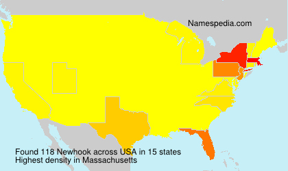 Surname Newhook in USA
