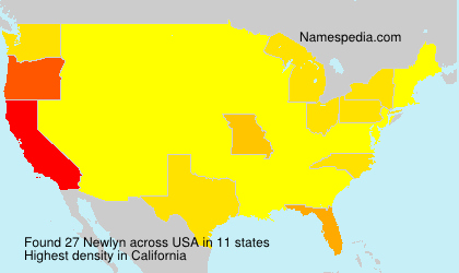 Surname Newlyn in USA