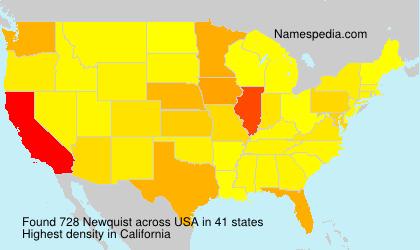 Familiennamen Newquist - USA