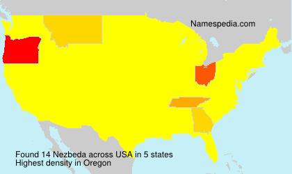 Surname Nezbeda in USA
