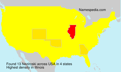 Surname Neziroski in USA